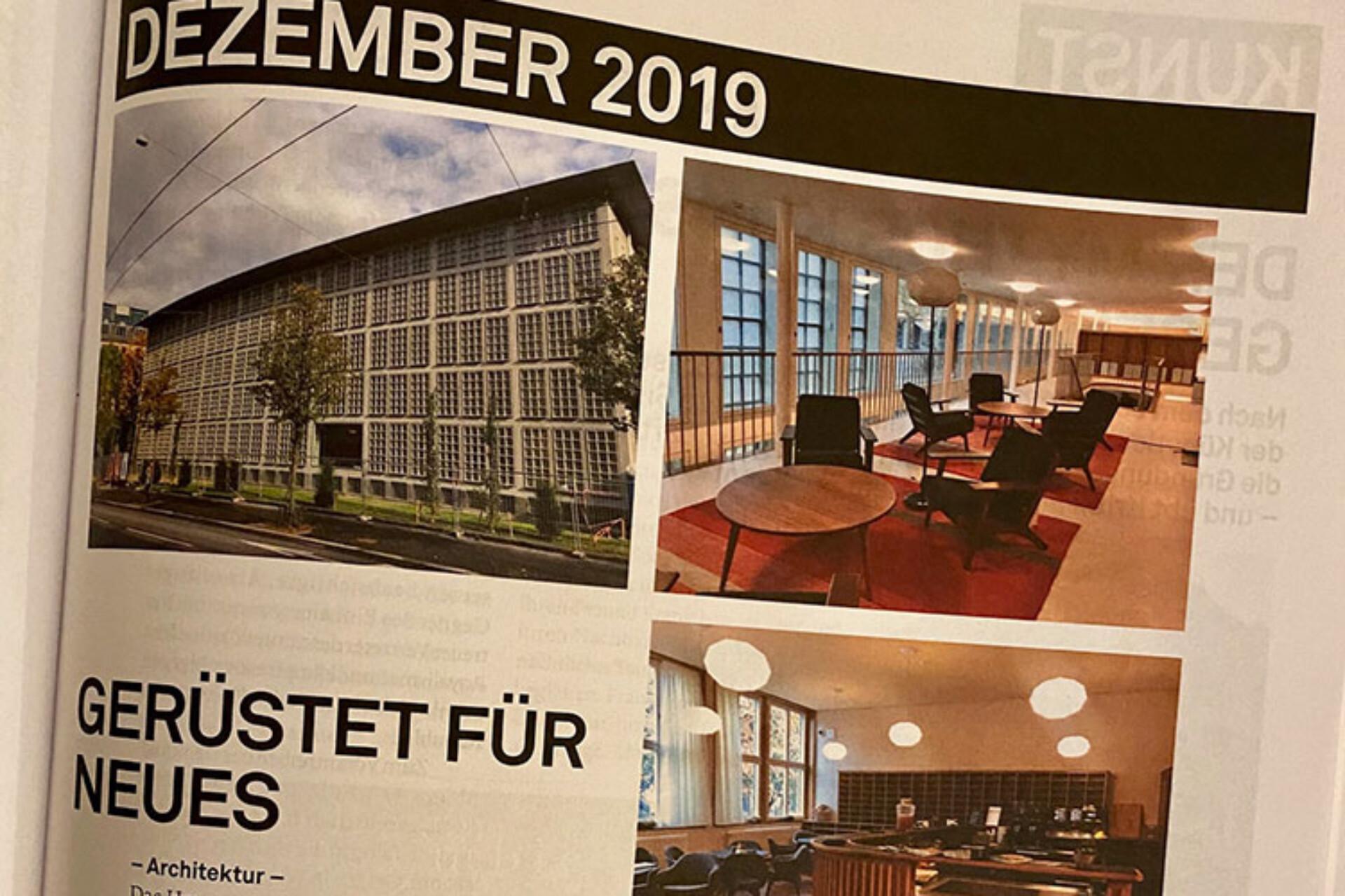 Die neu umgebaute ZHB und somit auch das Bistro Quai4, welche am 11. Dezember offiziell eröffnet werden, finden lobende Worte im Kulturmagazin 041.