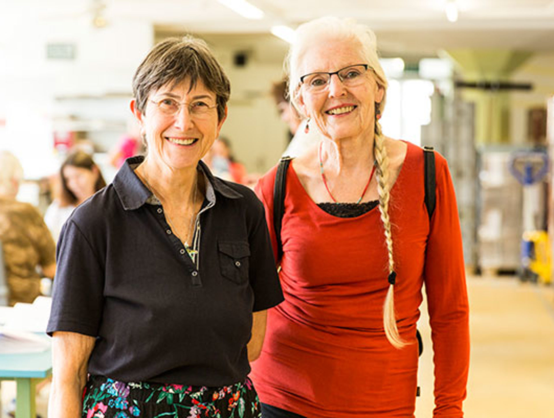 Erika Fäh, Marie-Louise Gerber, Besucherinnen «Wir sind beeindruckt! Und davon überzeugt, dass Projekte wie der Quai4 wertvoll sind.»