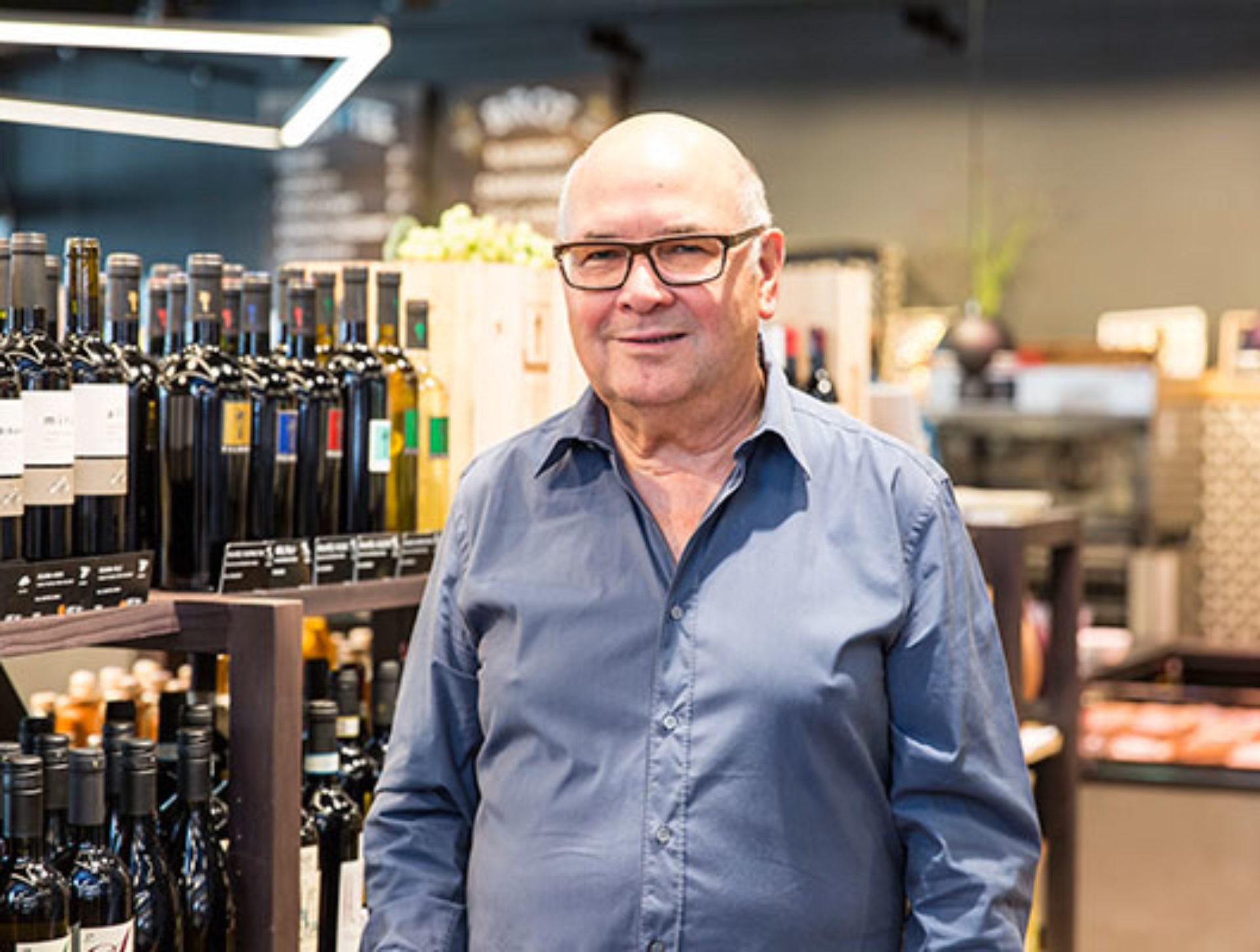 Klaus-Dieter Bahnsen, Weinhandlung am Küferweg «Seit Beginn beliefern wir den Quai4. Hier schaut man immer vorwärts und hält die Qualität hoch in allen Betrieben.»
