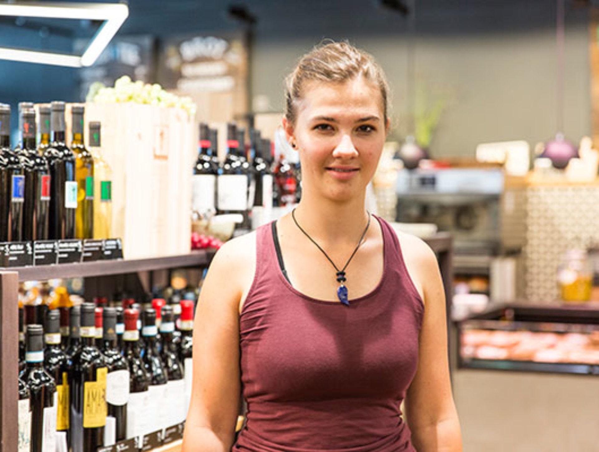 Nicole Achermann, Besucherin «Wir sind alle Biofans in der Familie und heute haben wir zufällig auf einem Ausflug den Quai4-Markt und das Restaurant entdeckt. Sehr schön!»